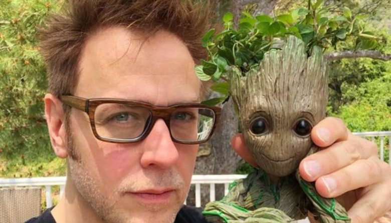 James Gunn com Groot